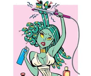 medusa, hair, and art image