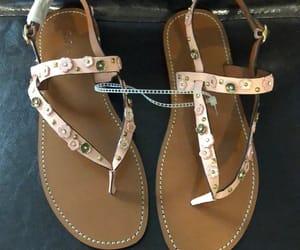 boho, sandals, and fashion image