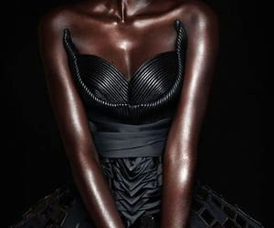 African, beautiful, and dark skin image