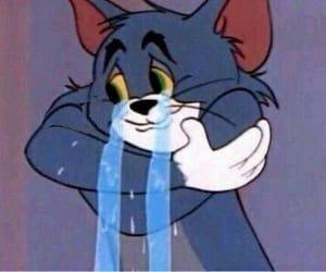 Tom, sad, and cartoon image