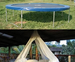 diy, trampoline, and bed image