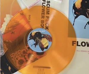 aesthetic, orange, and music image