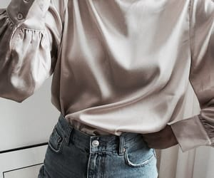 grey, shirt, and outfit image