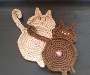 crochet, cotton coasters, and etsy image