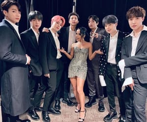 bts, becky g, and jin image