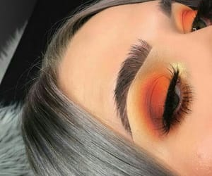 eyebrows, makeup, and sunset image