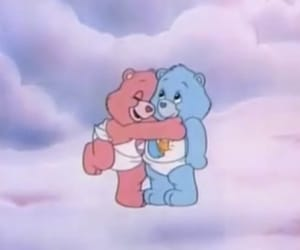 cartoon, blue, and care bears image