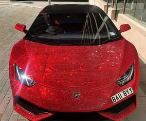 car, red, and glitter image