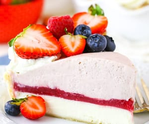 berries, cheesecake, and blueberry image