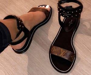 shoes, sandals, and Louis Vuitton image