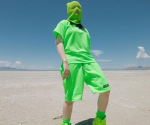 billie eilish, style, and neon green image