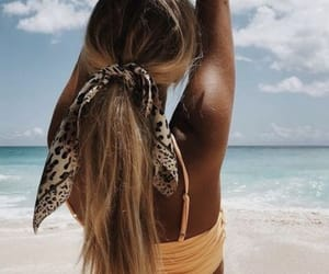 beach, pretty, and waves image
