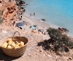 beach, summer, and lemon image