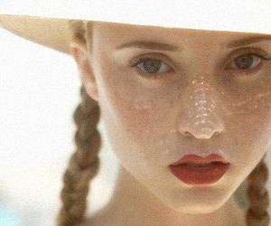 girl, hat, and lips image