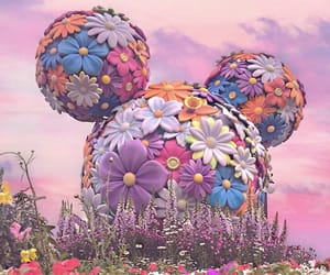 disney, disneyland, and florals image