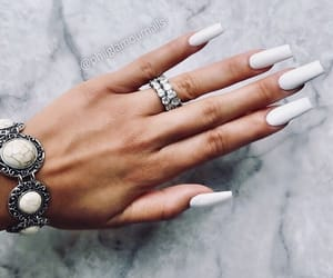 acrylic, simple, and nails image