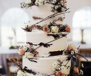 cake, wedding, and dessert image