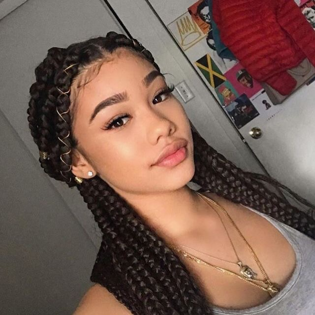 braids, pretty, and makeup image