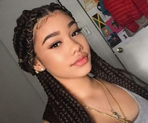 braids, hair, and makeup image