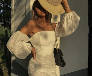 dress, hat, and inspiration image