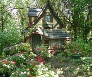 cottage, flowers, and aesthetic image
