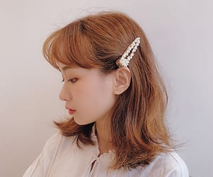 dainty, girl, and hair clip image