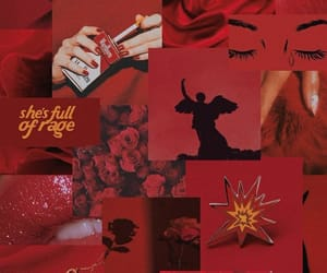 aesthetic, red, and Collage image
