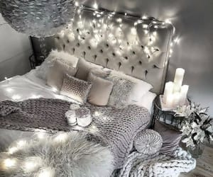 home, bedroom, and lights image