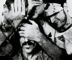 anthony kiedis, band, and black and white image