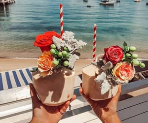 drinks and flowers image