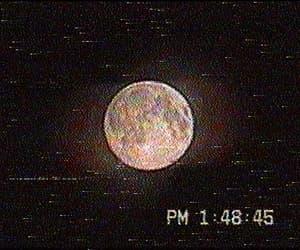 aesthetics, glitch, and full moon image