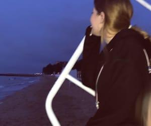 beach, beach house, and hoodie image