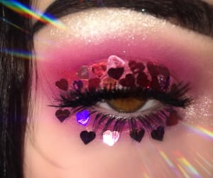 beauty, hearts, and makeup image