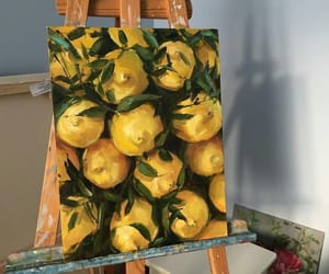 art, lemon, and yellow image