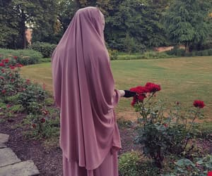 garden, hijab, and islam image