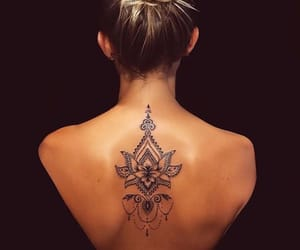 tattoo, back, and belleza image