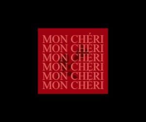 neon, words, and mon cheri image