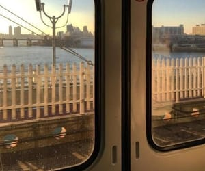 aesthetic, beige, and train image