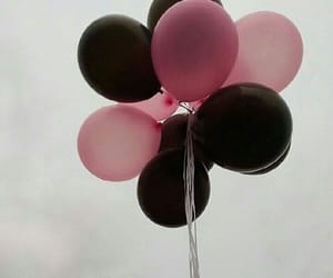 balloons, aesthetic, and black image