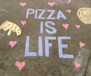 pizza, life, and food image