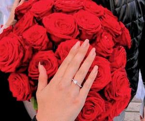 nails, ring, and roses image
