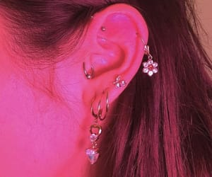 piercing, pink, and aesthetic image