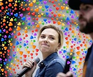 chris evans and Scarlett Johansson image