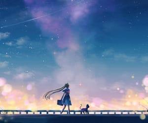 anime, beautiful, and stars image