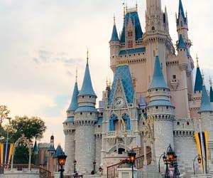 castle, disney, and fairytale image