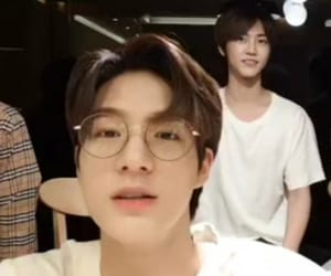 glasses, lee jeno, and nct dream image