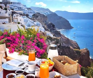 summer, breakfast, and Greece image