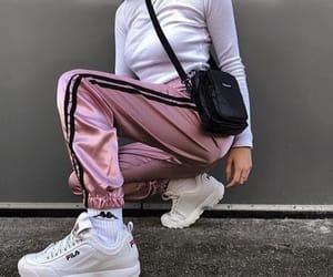 fashion, girl, and Fila image