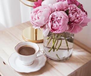 coffee and peonies image