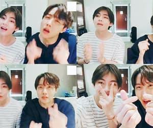 gif, v, and kim nam joon image